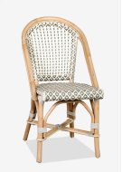 Outdoor Camelot Bistro Chair with Synthetic Wicker (white grey)-Minimum quantity 2 (17X24X35) Product Image
