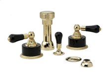 Four Hole Bidet Set Frienze Black Onyx - Polished Brass