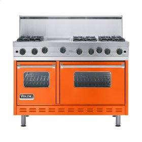 """Pumpkin 48"""" Open Burner Range - VGIC (48"""" wide, six burners 12"""" wide griddle/simmer plate)"""