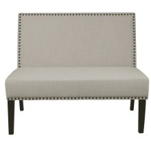 Nailhead Trim Bench in Neutral White