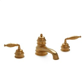 Rose Gold Grey Series I Lever Deck Mount Tub Set