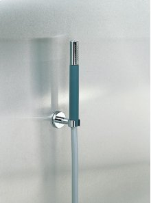 Hand shower holder for low mounting - Grey