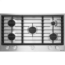 "36"" Gas Cooktop, Stainless Steel"