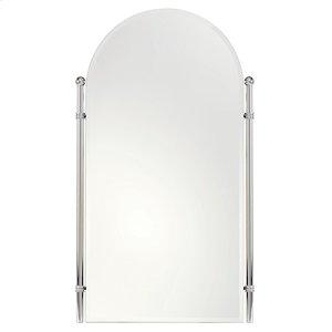 "Polished Nickel 26"" x 38"" Large Framed Mirror"