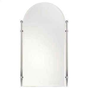 "Polished Nickel 26"" x 38"" Large Framed Mirror"