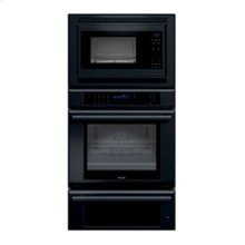 """30"""" MASTERPIECE SERIES BLACK COMBINATION OVEN WITH A CONVECTION MICROWAVE, TRUE CONVECTION OVEN AND WARMING DRAWER"""