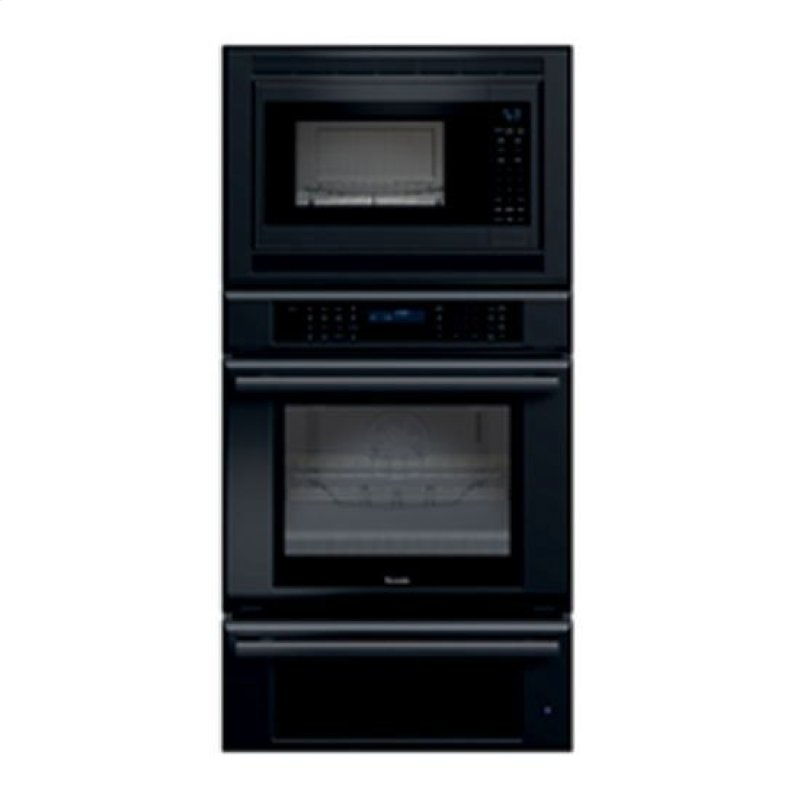 30 Masterpiece Series Black Combination Oven With A Convection Microwave True And Hidden Thermador Logo