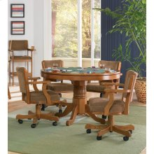 Mitchell Traditional Oak Game Table