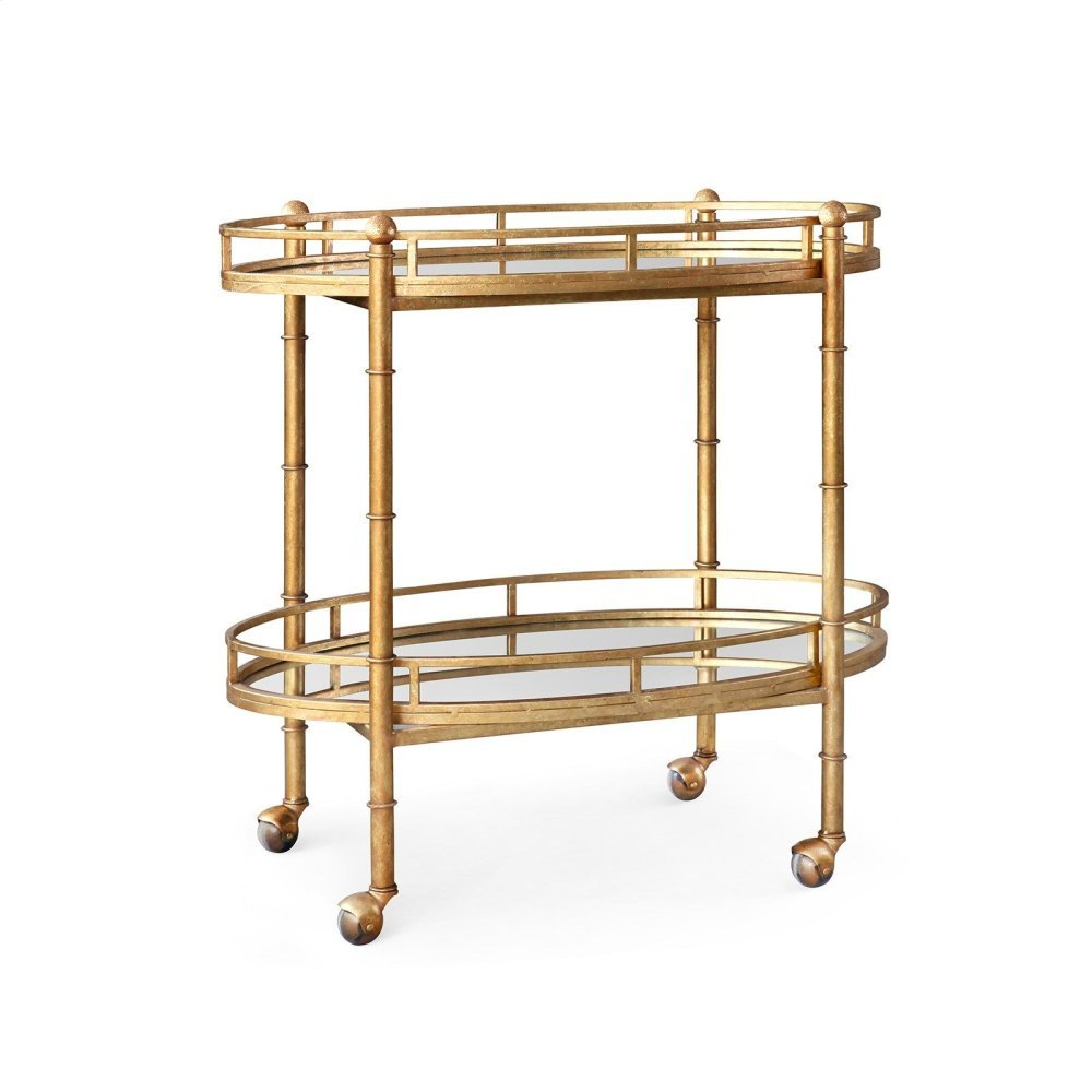 Normandy Bar Cart, Gold