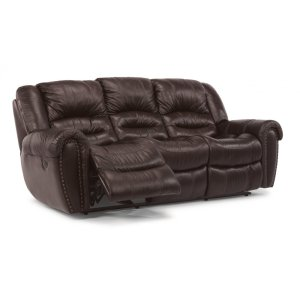 FLEXSTEELHOMECrosstown Leather Power Reclining Sofa