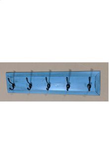 5-Hook Panel Coat Rack - Vintage Confederation over Black