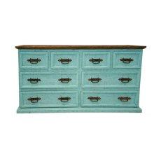 Turquoise 8 Drawer Dresser