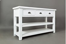Artisan's Craft Sofa Table - Weathered White