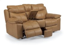 Julio Leather Power Reclining Loveseat with Console