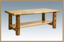 Glacier Country Log Coffee Table