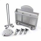 Dishwasher Accessory Kit with Extra Tall Item Sprinkler, Vase/Bottle Holder, 3 Plastic Item Clips and Small Item Basket - Ascenta Product Image