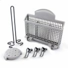 Dishwasher Accessory Kit with Extra Tall Item Sprinkler, Vase/Bottle Holder, 3 Plastic Item Clips and Small Item Basket - Ascenta Product Image