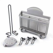 Dishwasher Accessory Kit with Extra Tall Item Sprinkler, Vase/Bottle Holder, 3 Plastic Item Clips and Small Item Basket - Ascenta