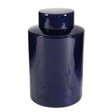 Blue Lidded Jar,Medium