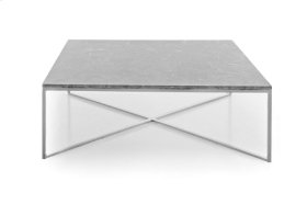 Boston Grey/White Marble Coffee Sqaure Table