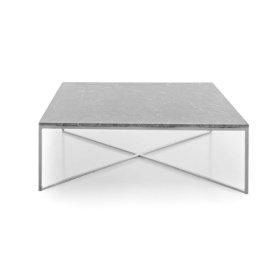 Boston Grey/White Marble Coffee Sqaure Table