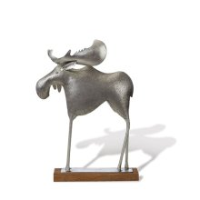 Silver Etched Moose, Lg