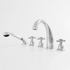 200 Series Roman Tub Set with Diverter Handshower and Alexandria Handle (available as trim only P/N: 1.201493T)