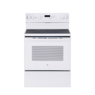 "GE 30"" Electric Free Standing Convection Range White JCB830DKWW"