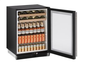 "24"" Beverage Center Stainless Frame Field Reversible Door"