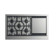 """Gas Rangetop 48"""", 5 burners with griddle (LPG)"""