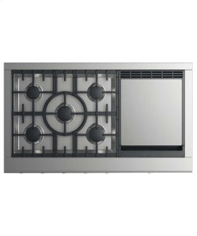 """Gas Cooktop 48"""", 5 burners with griddle (LPG)"""