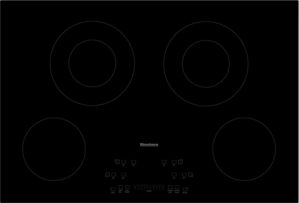 "30"" electric cooktop, 4 burner, touch controls
