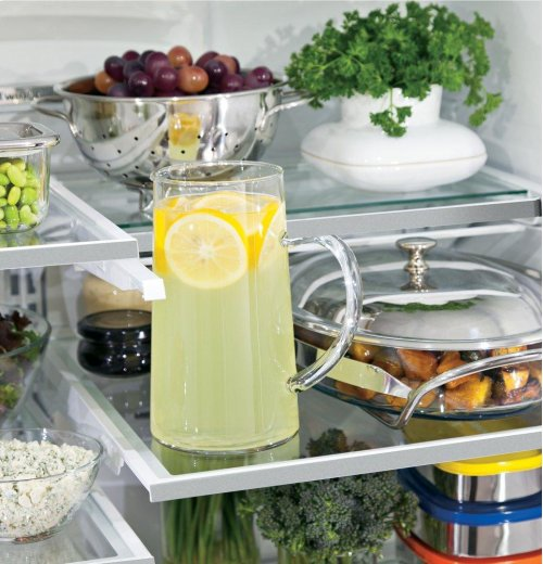 GE Café Series ENERGY STAR® 22.2 Cu. Ft. Counter-Depth French-Door Refrigerator with Keurig® K-Cup® Brewing System
