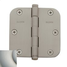 "Satin Nickel with Lifetime Finish 5/8"" Radius Corner Hinge"