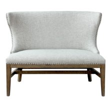 Shelter Back Nail Trim Settee - Gray