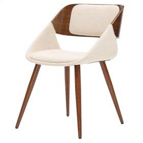 Cyprus KD Fabric Chair, Santorini Sand/Walnut