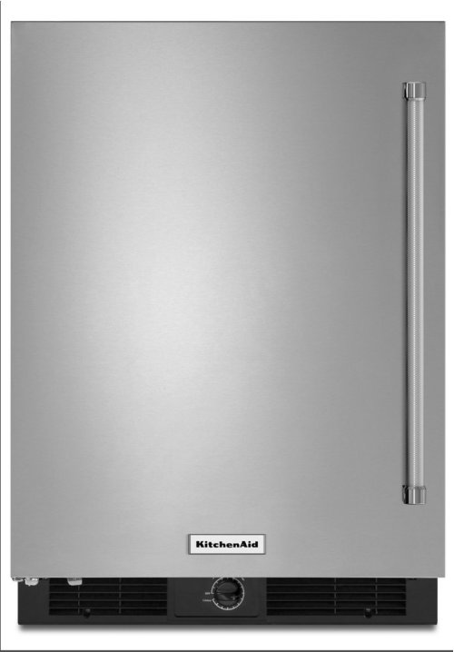 "24"" Undercounter Refrigerator with Stainless Steel Door"