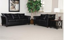 San Marino Ebony Sofa and Loveseat
