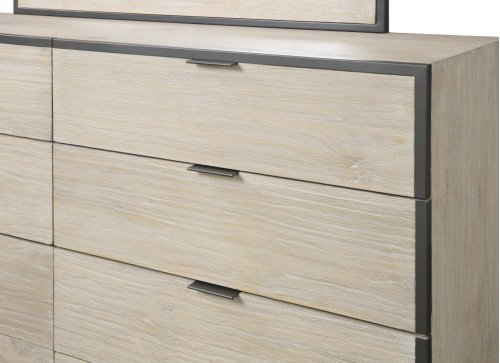 Emerald Home Synchrony 8 Drawer Dresser Washed Linen B112-01