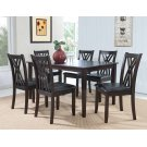 """Masten """"Espresso"""" 7 PC Table and Chairs Product Image"""