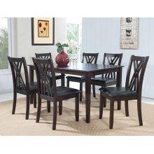 "Masten ""Espresso"" 7 PC Table and Chairs"