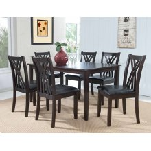 "Masten ""Espresso"" 7 PC Table and Chairs"