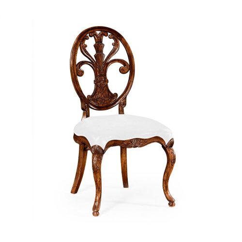 Sheraton Style Oval Back Chair (Side) - COM