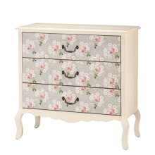 Dresser with Floral Drawers.