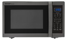 1.4 cu. ft. 1100W Sharp Black Stainless Steel Countertop Microwave (SMC1452CH)