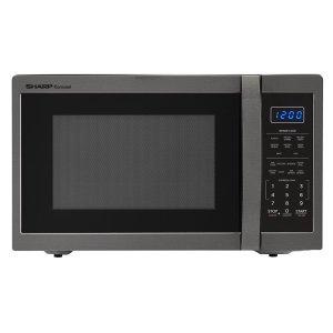 Sharp Appliances1.4 cu. ft. 1100W Sharp Black Stainless Steel Countertop Microwave