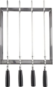PRO Series Stainless Steel Rotating Skewer Rack