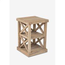 """Promenade 25"""" tall cross side table (17X17X25)"""