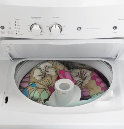 GE Unitized Spacemaker® 3.8 cu. ft. Capacity Washer with Stainless Steel Basket and 5.9 cu. ft. Capacity Electric Dryer