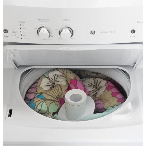 GE Unitized Spacemaker® 3.8 cu. ft. Capacity Washer with Stainless Steel Basket and 5.9 cu. ft. Capacity Long Vent Electric Dryer